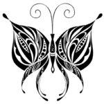 трафарет утонченной бабочки
