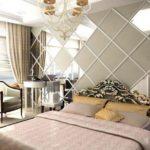 фото зеркального орнамента в спальне