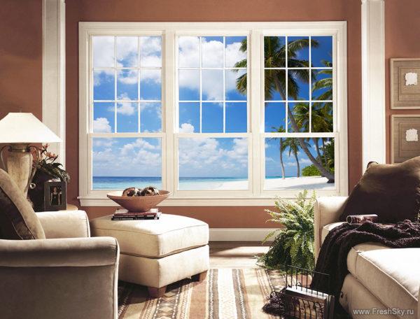 фальш-окно в гостиной