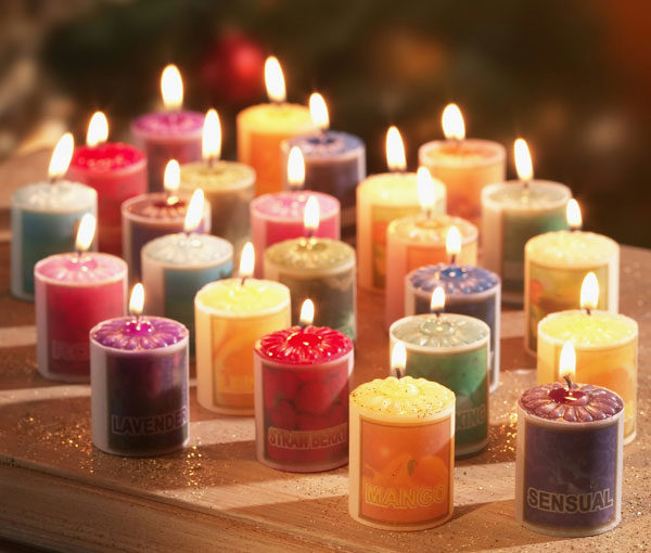ароматические свечи в интерьере