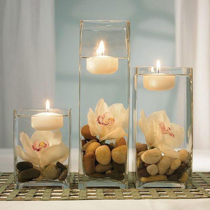 Свечи для интерьера своими руками
