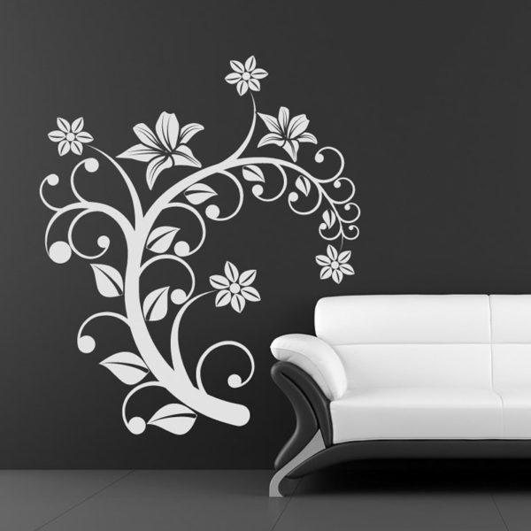 рисунок ветки с цветами