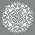 круглый цветочный орнамент