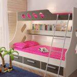детская двухэтажная кровать для девочек