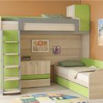 детская двухъярусная кровать с рабочим местом