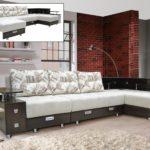 диван-трансформер с подушками