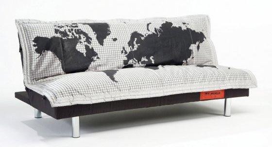 кровать-диван с картой