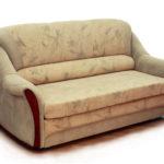 диван-кровать с закругленными подлокотниками