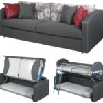 раскладной диван в трех положениях