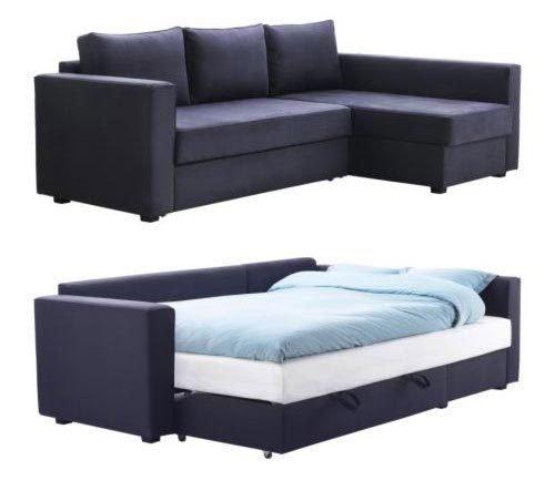 темно-синий диван-кровать