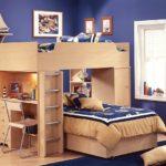 двухъярусная кровать с рабочим столом для детей