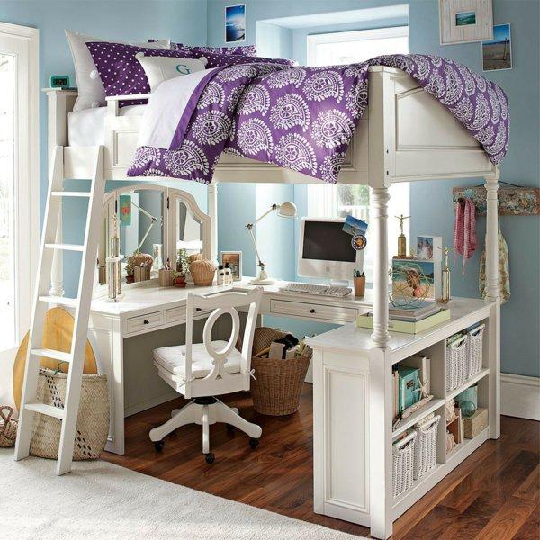 фото двухэтажной кровати со столом для ребенка