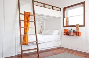 двухэтажная высокая кровать