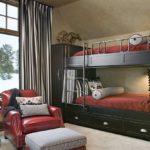 современная двухэтажная кровать
