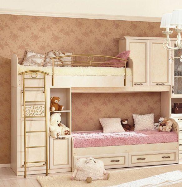 двухэтажная детская кроватка