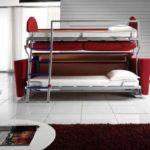 двухэтажная детская кровать с диваном