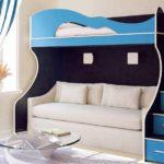 детская кровать с диваном снизу