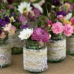искусственные цветы в баночках