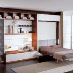 кофейный шкаф-кровать
