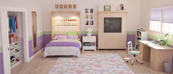 Фото комнаты с кроватью-шкафом