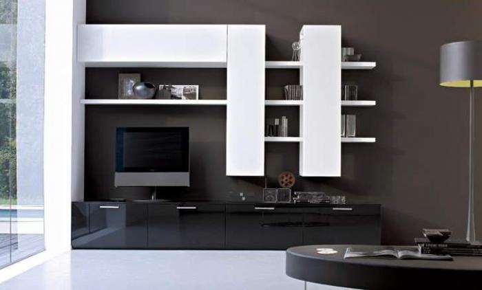 фото стенка в гостиную в современном стиле фото