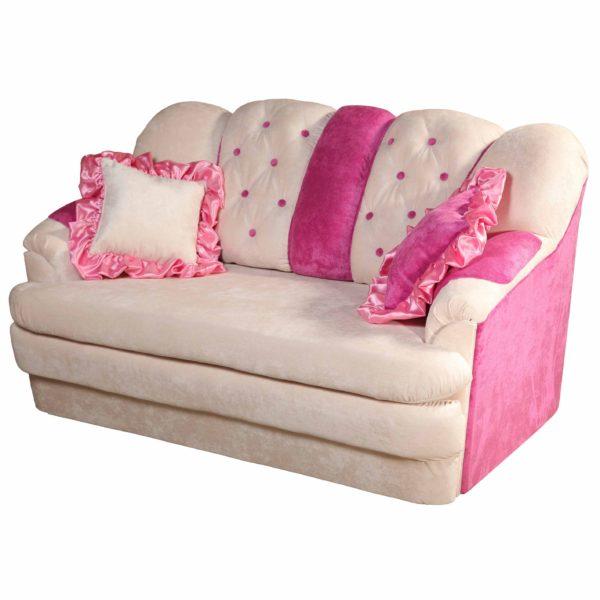 кресло-кровать с подушками для девочки