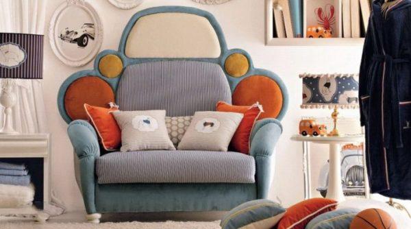 фото кресла-кровати в виде машины