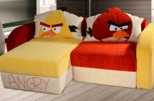 кресло кровать с энгри бердс