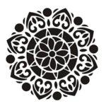 круглый цветочный крупный орнамент