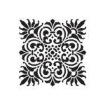 квадратный цветочный орнамент