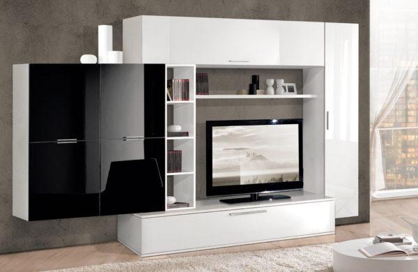 фото модульной современной стенки в гостиную