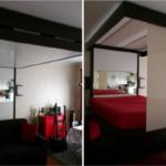 черно-красная кровать бедап