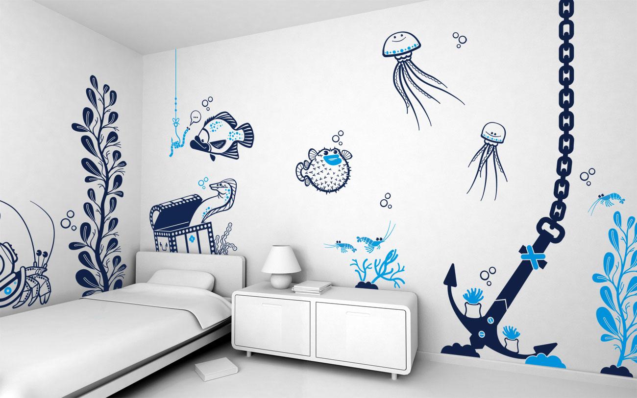 Как нарисовать рисунок на стене в детской своими руками