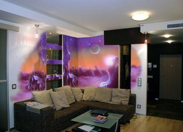 фото живописи на стене