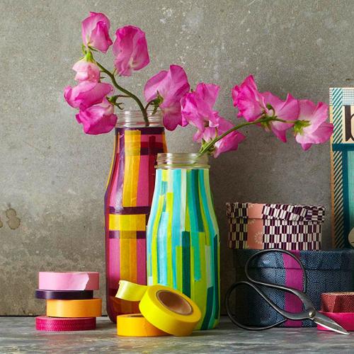 самодельные вазы из лент
