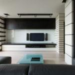 низкая стенка с полкой под телевизор