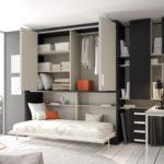 шкаф-кровать с местом для одежды