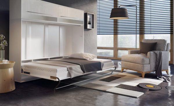 шкаф-кровать-трансформер белый