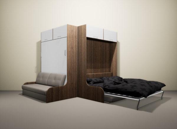 две модели кровати-трансфореров