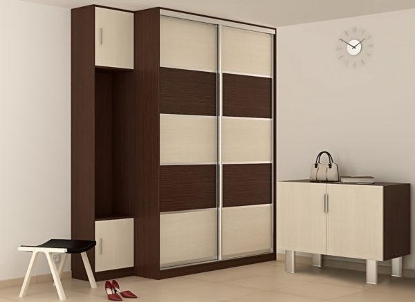 черно-белый встроенный шкаф
