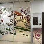 шкаф-купе с японской живописью
