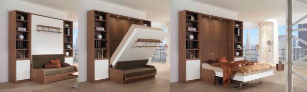 разбор шкафа-кровати-трансформера
