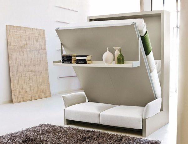 диван-шкаф с полкой