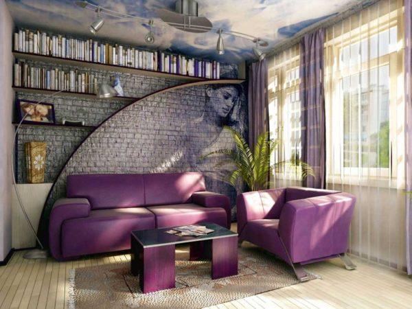 фото рельфеной стены с комнатным растением