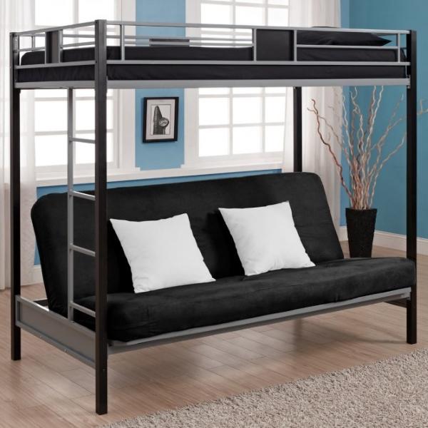 Двухэтажная кровать с кушеткой для взрослых