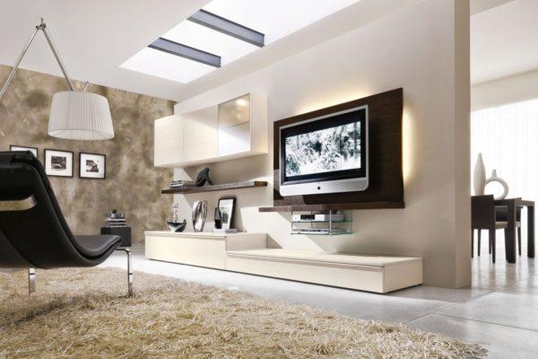 низкая стенка с подставкой под телевизор
