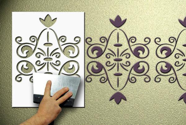 процесс рисования орнамента
