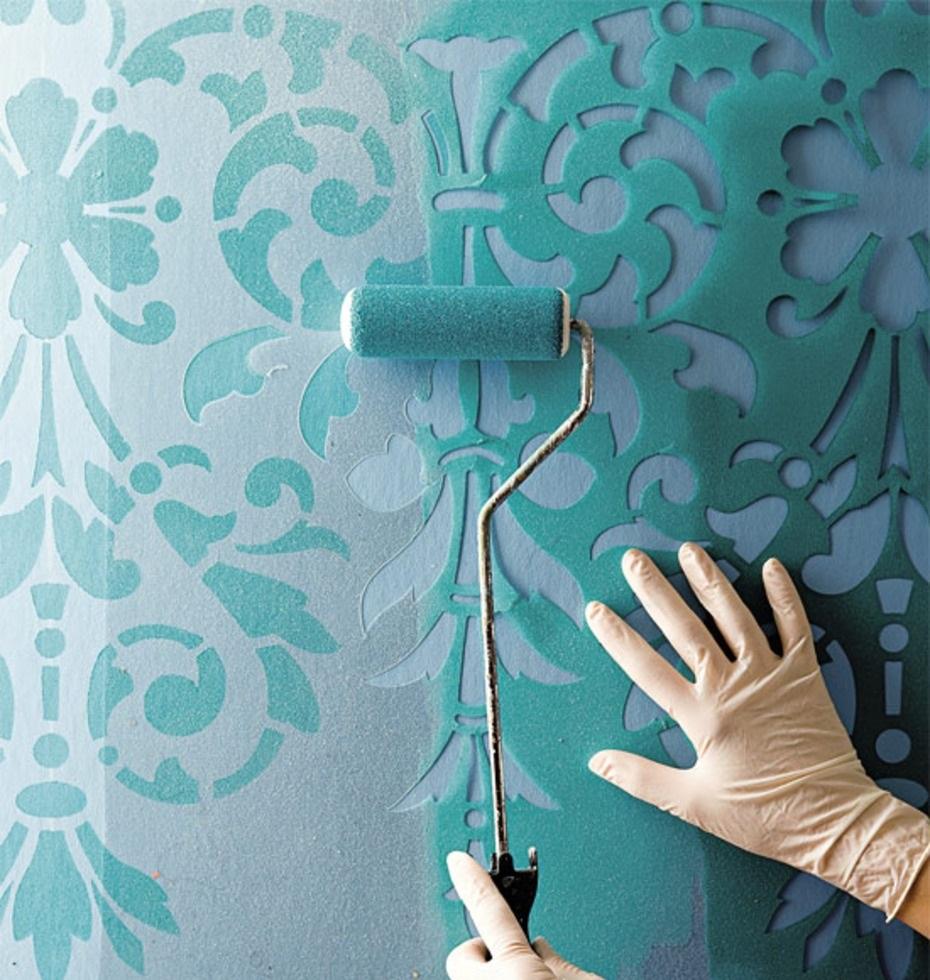 Трафарет для покраски стен своими руками