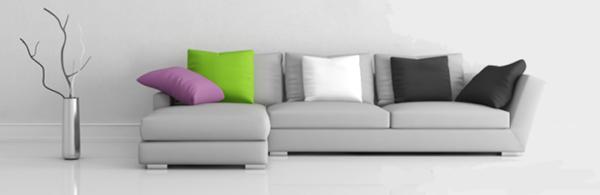 угловой диван-кровать с подушками