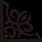 угловой геометричный трафарет